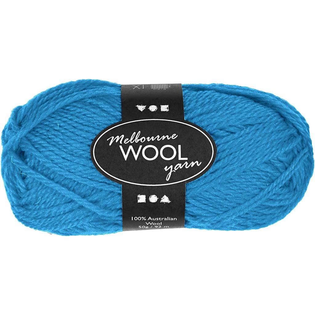 Melbourne Wolle, L 92 m, Hellblau, 50g [HOB 44799]